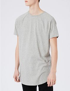 TOPMAN Nathan zip-detail jersey T-shirt