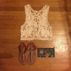 Cotton lace vest Express cotton lace vest. Cut off tag because you could see it when worn. Goes great with maxi dresses or sun dresses. I'm always willing to negotiate, so send an offer my way or bundle and save some moolah. Express Tops