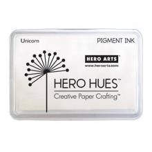 Hero Arts Unicorn White Ink best for stamping solid images