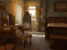 Downton Abbey: Mysteries of the Manor , Phil McCabe Victorian Bedroom, Bedroom Vintage, Aesthetic Room Decor, Dream Bedroom, New Room, Decoration, Room Inspiration, Bedroom Decor, House Design