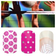 Jamberry nail diy art volleyball sports Love the one on the right!