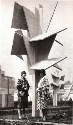 polychroniadis:  Sonia Delaunay  International Exposition of Modern Industrial and Decorative Arts, Paris, 1925. With the Cubist Trees by Joël and Jan Martel.