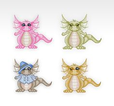 SET of 4  Machine Embroidery Designs  Daishi by CeciliasEmbroidery, £12.21