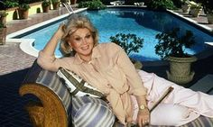Zsa Zsa Gabor at home in 1992.