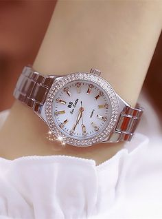 Women's Wrist Watch Diamond Watch Gold Watch Japanese Quartz Stainless Steel Gold 30 m Creative New Design Punk Analog Ladies Luxury Fashion - Gold Silver Gold / Silver / White Two Years Battery Life 2019 - Rs. Gold Watches Women, Trendy Watches, Elegant Watches, Luxury Watches For Men, Beautiful Watches, Women's Watches, White Watches, Dress Watches, Watches Online