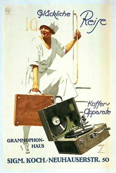 German gramophone ad, 1925