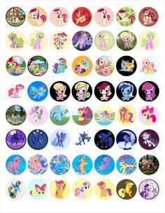 More My Little Pony  bottle cap images
