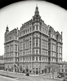 "Circa 1906. ""Ansonia Apartments, Broadway, New York City."" Detroit Publishing Company."