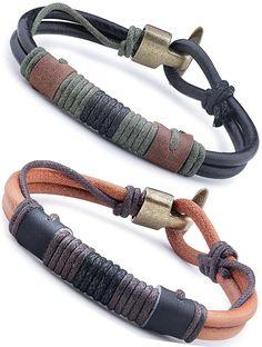 Jstyle Schmuck Leder Armband Armreif Herren Armband Set Armbänder Arm Band für Frauen Liebe 21,5cm* 10mm: Amazon.de: Schmuck