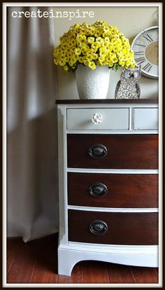 {createinspire}: Vintage Dresser refinished in Java Gel from General Finishes