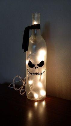 Jack Nightmare Before Christmas Wine Bottle by KarensWineSeller #winebottlecrafts