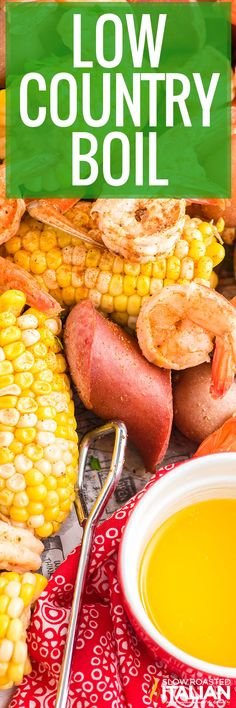 This low country boil features crab, shrimp, sausage, and veggies for a spicy, flavorful feast! Cook everything in one pot in under an hour. #LowCountryBoil #Southern #Cajun Meat Recipes, Seafood Recipes, Dinner Recipes, Low Country Boil, The Slow Roasted Italian, Boiled Food, Southern Dishes, Shrimp Dishes, Fun Easy Recipes