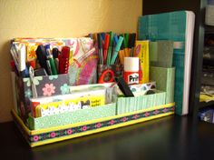 #DIY Tea Box #Desk #Organizer TOP 10 BEST DIY DESK ORGANIZERS