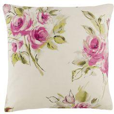 Mimi Floral Fuchsia Square Cushion