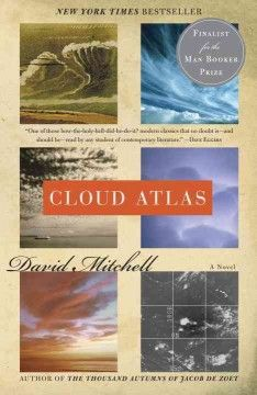 Cloud Atlas by David Mitchell.  Click the cover image to check out or request the literary fiction kindle.