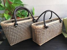Cloth Bags, Straw Bag, Purses And Bags, Weaving, Tote Bag, Crafts, Handmade, Paracord, Garden Design