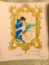 コピックで描かせていただきました 見えにくくてすいません  ヴァニタスの手記一巻より トレスして重ねて色塗りました