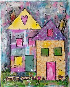 This item is unavailable Mixed Media Painting, Mixed Media Collage, Mixed Media Canvas, Collage Art, Collages, Acrylic Paint Pens, Acrylic Canvas, Brick Art, Art Journal Inspiration
