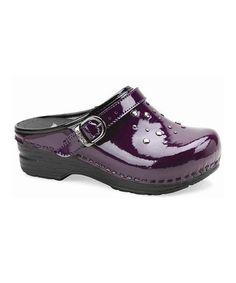 Look what I found on #zulily! Purple Patent Jemma Clog - Kids by Dansko #zulilyfinds