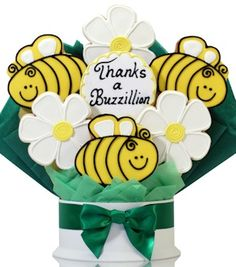 Thanks A Buzzillion Cookie Gift Bouquet