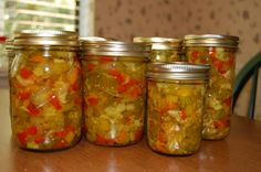 Chow chow is quintessential Pa. a sweet and sour mix of pickled vegetables often served as a side dish next to other Pa. Not only delicious, it it near and dear to a … Tomato Salsa Recipe, Relish Recipes, Canning Recipes, Tomatoe Sauce, Jam Recipes, Vegan Recipes, Salsa Verde, Ketchup, Chow Chow Relish