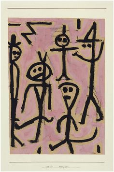 Paul Klee (1879-1940) hij beschouwde Pablo Picasso als de grootste moderne kunstenaar. In 1937 was Paul Klee ernstig ziek. Picasso bezocht hem in Bern. Klee kreeg ook bezoek van Georges Braque. Picasso en Braque vereerden Paul Klee en wilden zijn werk nog eens goed bestuderen. (1938)