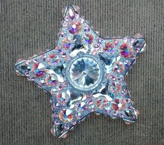 """""""Pinball Wizard"""";  Cosmic Clay by Spirit Spellweaver --Clay & Swarovski Crystal Star Pendant inspired by the Who rock opera, Tommy. Sold."""