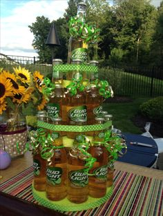 DIY beer bottle cake