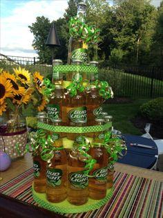 DIY beer bottle cake