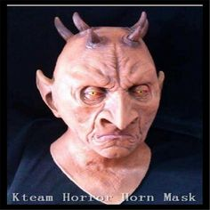 New Party Cosplay Scary Six Horned Monster Mask,Devil Latex Masks for Halloween,The Masquerade Party Rubber Birthday Face Masks