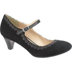 9c65347db4a Hush Puppies Shoes Sanguin Mary Jane - Black Suede - Women s Steampunk  Shoes