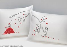 Pillowcases Super Soft Pillowcases-romantic Valentines Gifts for Couples Set of 2 Te amo Mas Valentine Day Gift Idea HAT SHARK I LOVE YOU AND LOVE YOU MORE