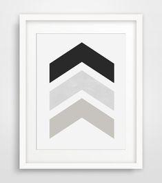 Black and White Chevron Wall Art Black by MelindaWoodDesigns #printableart #moderprints