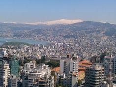 LEBANON, PANORAMIC VIEW OF BEIRUT