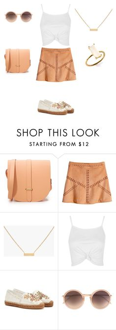 """""""Beige & White Summer Look"""" by bshujewelry ❤ liked on Polyvore featuring The Cambridge Satchel Company, H&M, Topshop, Dolce&Gabbana and Linda Farrow"""