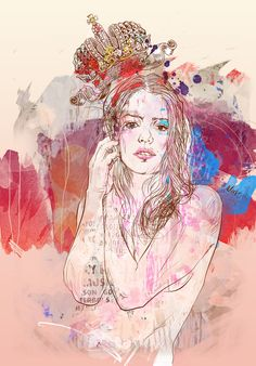 Queen by Anna Ulyashina - illustrator, via Behance