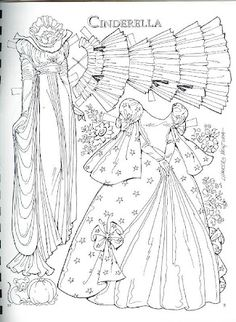 Cinderella by Charles Ventura Paper Doll Craft, Doll Crafts, Paper Toys, Paper Crafts, Colouring Pages, Adult Coloring Pages, Coloring Books, Art Origami, Paper Dolls Printable