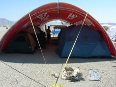 burning man shade structures | Clif's Shade Structure -- Construction and Use
