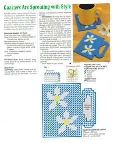 Daisy coaster, make a hook hanger to hanger coasters from