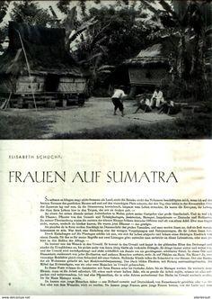 Bücher, Zeitschriften, Comics - Frauen auf Sumatra / unvollständiger Artikel, entnommen aus Modezeitschrift 1942
