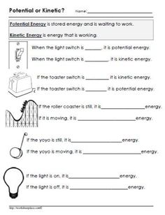 Potential & Kinetic Energy with Roller Coasters - Teaching To ...