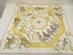 Hermes Scarf Shawl 100% Silk Carre90 ECOLE PORTUGAISE D'ART EQUESTRE AUTHENTIC #Hermes #Scarf