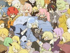 That time I got reincarnated as a slime // Tensei shitara slime datta ken // 転生したらスライムだった件 Ken Anime, Manga Anime, Anime Art, Otaku, Slime, Kawaii Chibi, Anime Merchandise, Cute Friends, Anime Comics