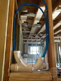How to install a hose bibb with a PEX maintenance loop for easier servicing. Give yourself some plumbing wiggle room with a PEX expansion loop. Pex Plumbing, Bathroom Plumbing, Bathroom Fixtures, Water Plumbing, Plumbing Drains, Bathroom Cleaning, Bathroom Vanities, Bathrooms, Welding Table