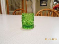 Vintage Green Glass In The Kanawha Scroll & by CountryMileCottage