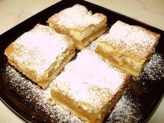 Prăjitură cu mere Sweets Recipes, Desserts, Romanian Food, Romanian Recipes, Puff Pastry Recipes, Cornbread, Donuts, Delish, Treats