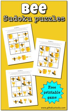 44 best sudoku images on pinterest sudoku puzzles for kids and bee sudoku free printable ccuart Gallery