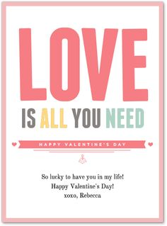 Love is all you need this Valentine's Day