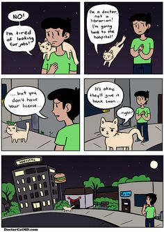 Doctor Cat comic strip