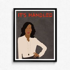 Scandal Poster TV Show Minimalist Print Olivia Pope
